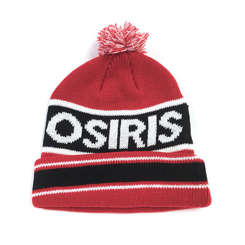 Osiris Pom Pom Beanie Red/Black