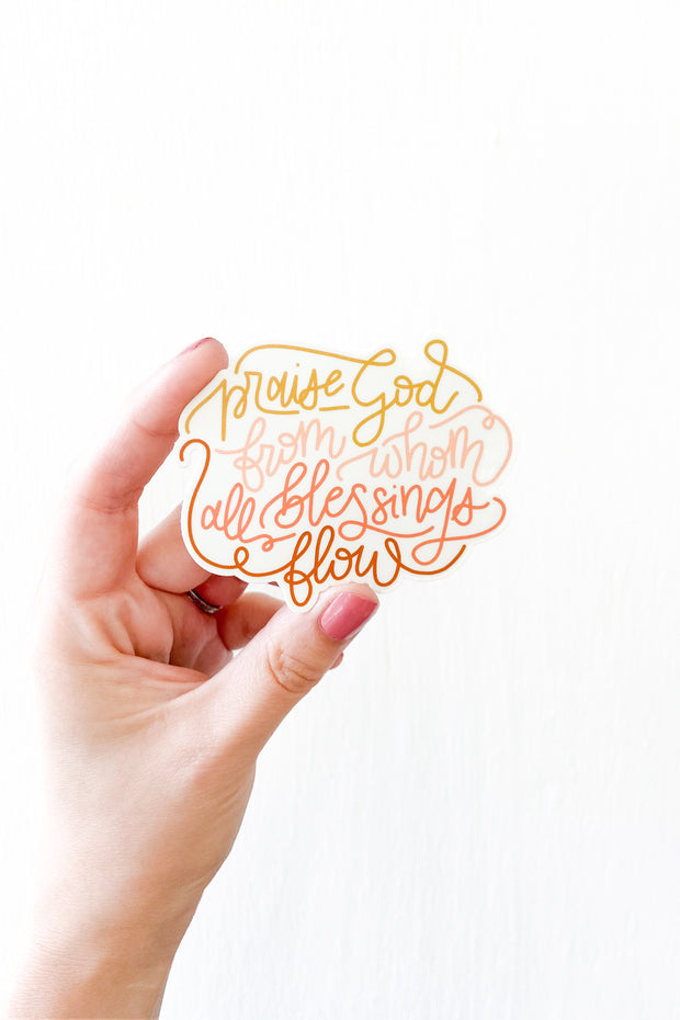 Doxology Sticker