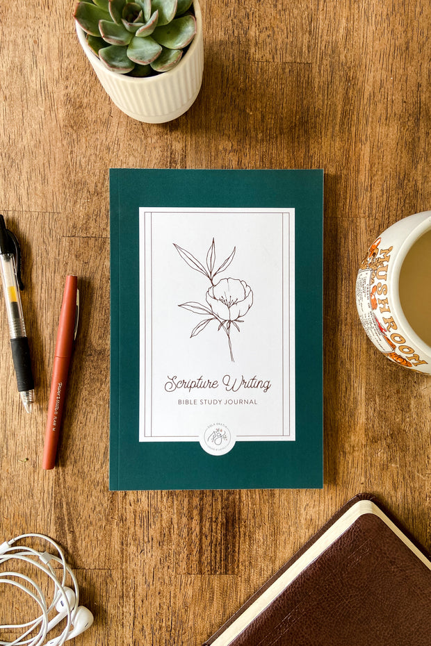 Floral Scripture Writing Bible Study Journal