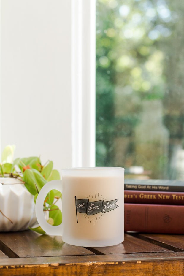 Soli Deo Gloria Banner Frosted Mug