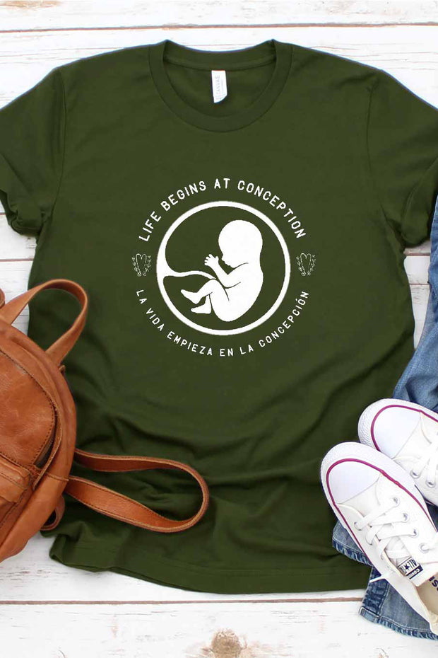 Life Begins at Conception Tee