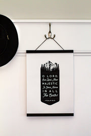 Psalm 8:9 Hanging Canvas