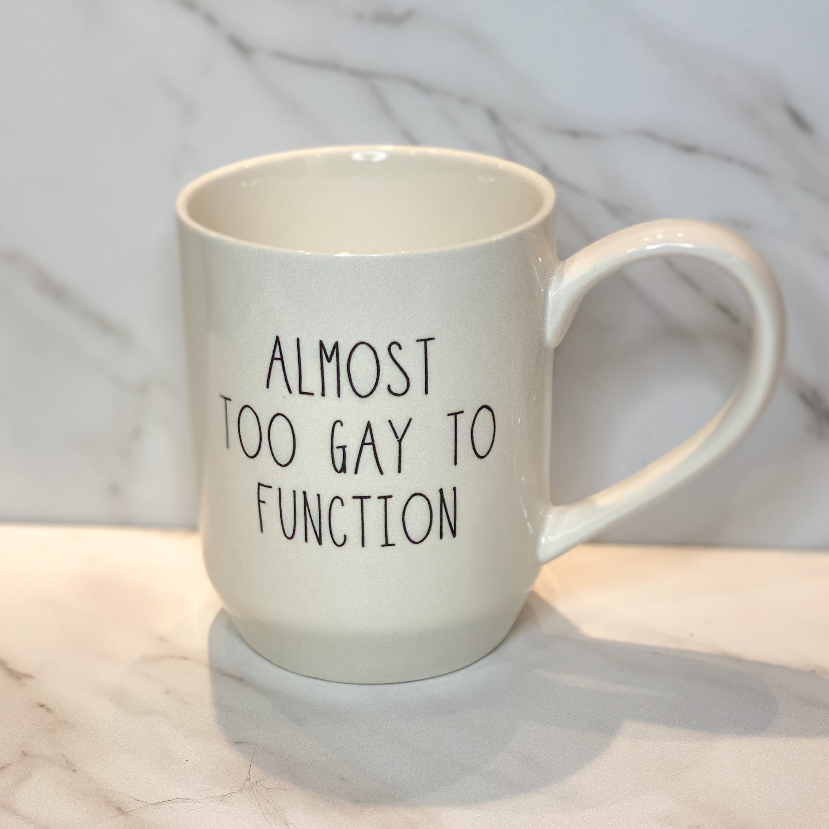 Almost too Gay to Function Mug