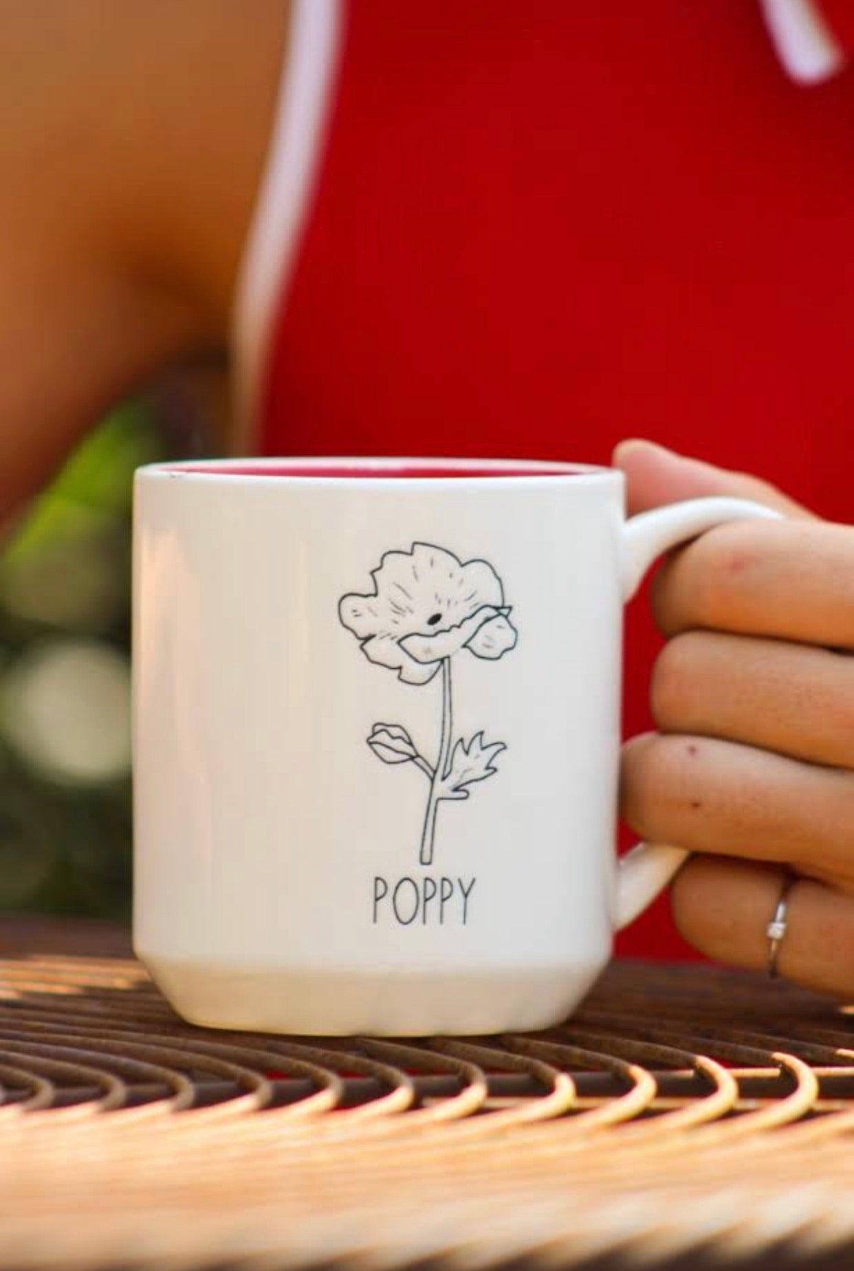 Poppy Mug by Michael Shaw