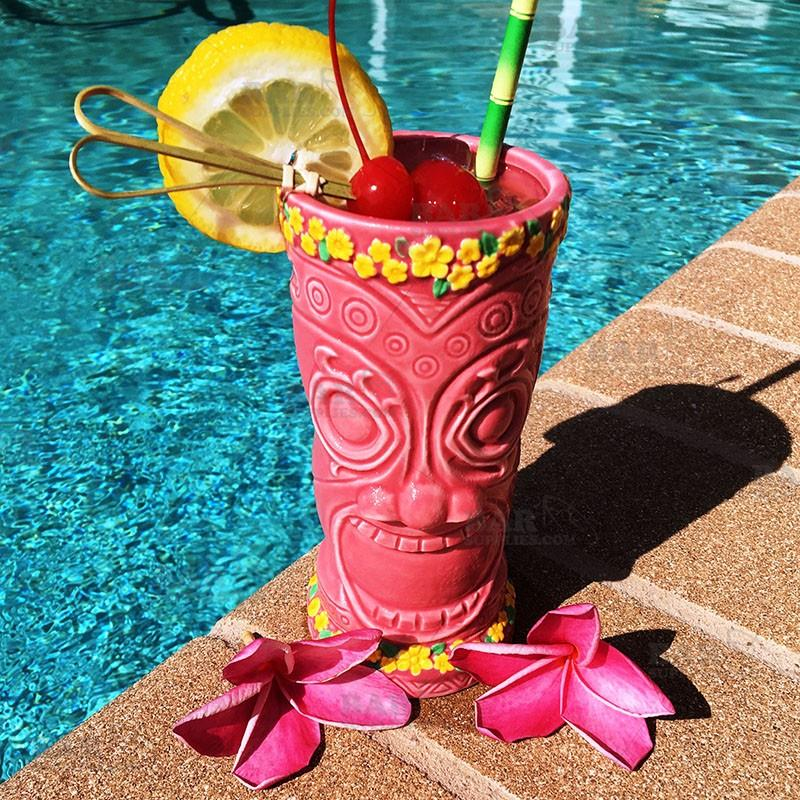 Flower Goddess Tiki Glass