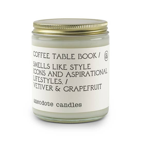 Coffee Table Book Candle (Vetiver & Grapefruit) - Standard Jar