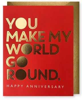 World Go Round Anniversary Card