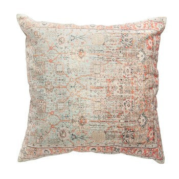 Distressed Print Pillow - 24""