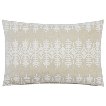 "Sama Sand Decorative Pillow with Insert - 12"" x 18"""