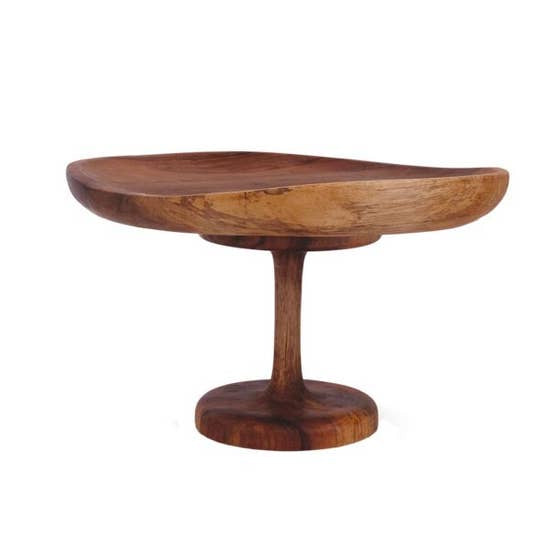 "Tall Wood Cake Stand - 12""D x 7""H"