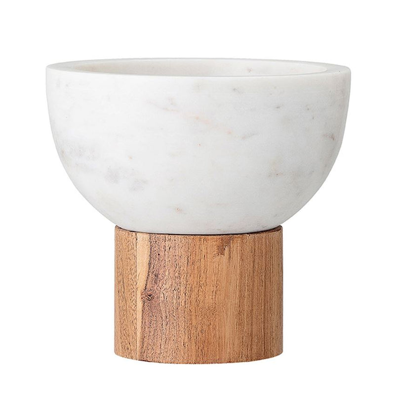 Marble Bowl with Wood Base - 5""
