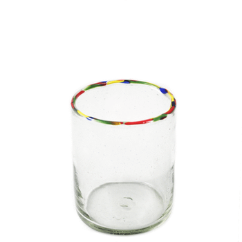 Multi Rim Double Old Fashion Glass