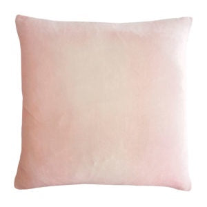 "Ombre Velvet Pillow with Insert - Pink/Beige - 14""x20"""