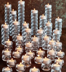Stackable Bubble Candle Holder with Tea Light