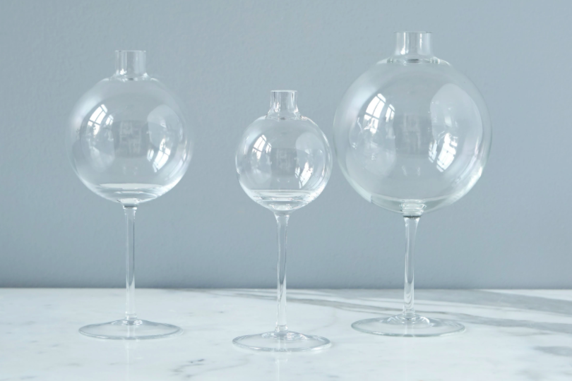 Clear Wine Glass Vase - Small