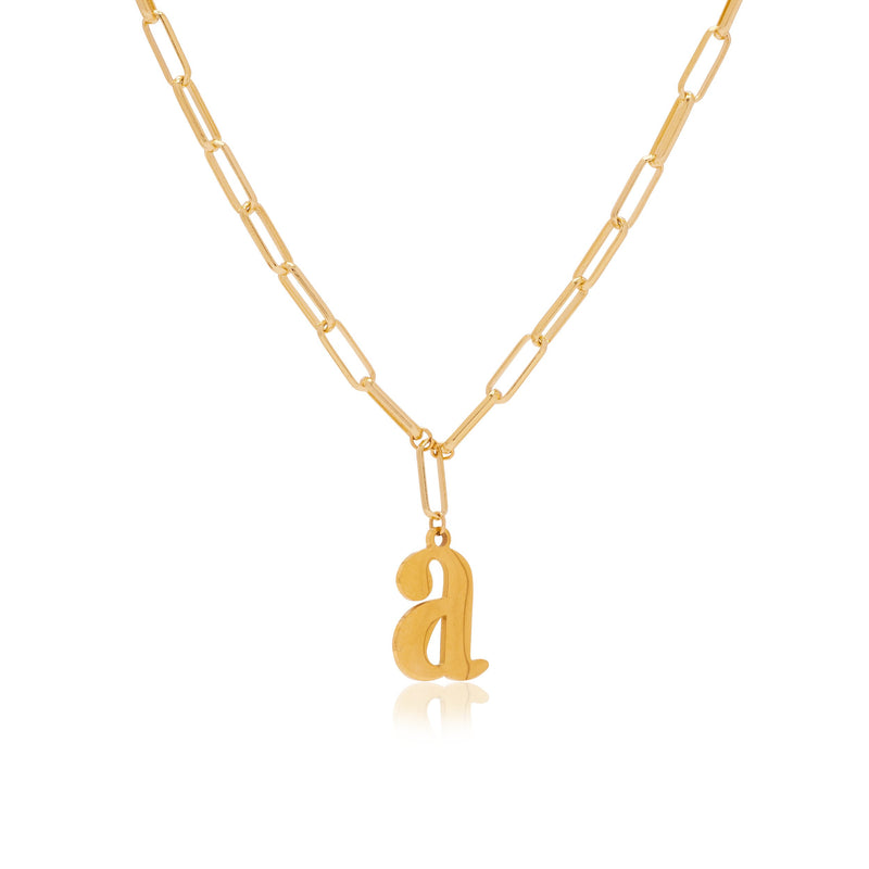 Gold Love Letter T Necklace