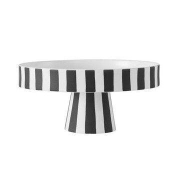 Black & White Stripe Tray