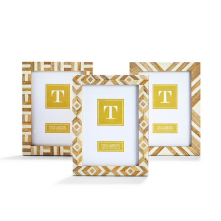 "Pattern Parade Inlay Photo Frame - 5"" x 7"""