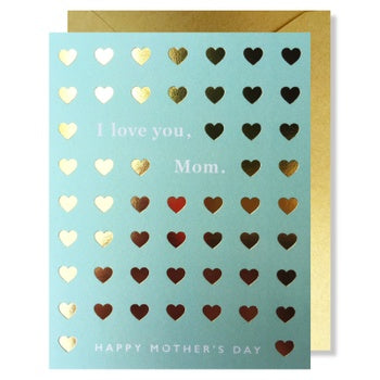 Mom Love Hearts Card