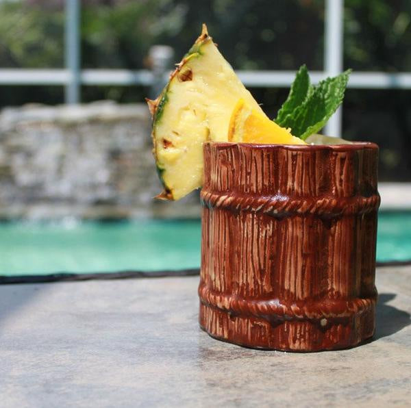 Wood Barrel Stubby Mug