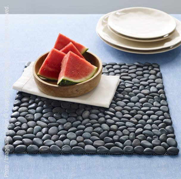 Beachstone Placemat - Black