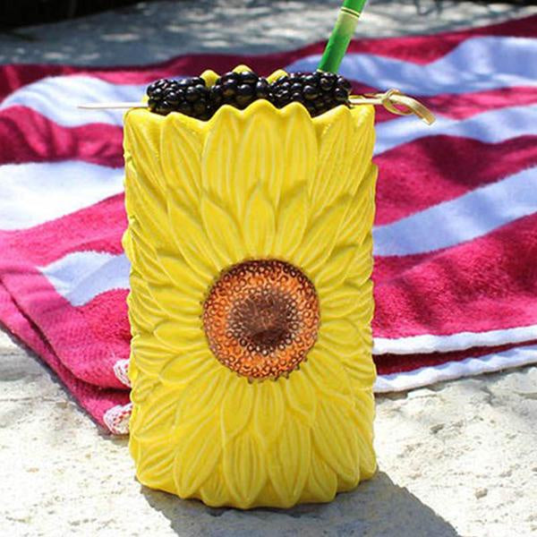 Yellow Sunflower Tiki Mug