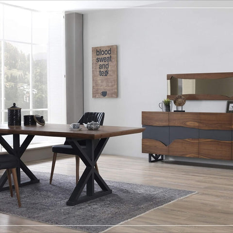 furniture with metal finishes
