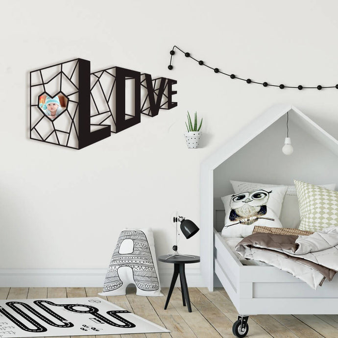 3D Love Metal Decor