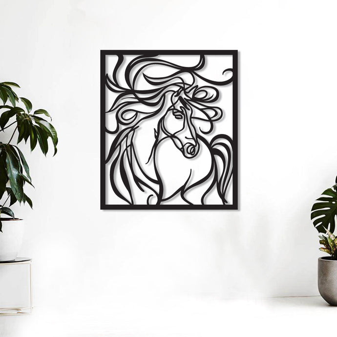 Art Horse Metal Wall Art