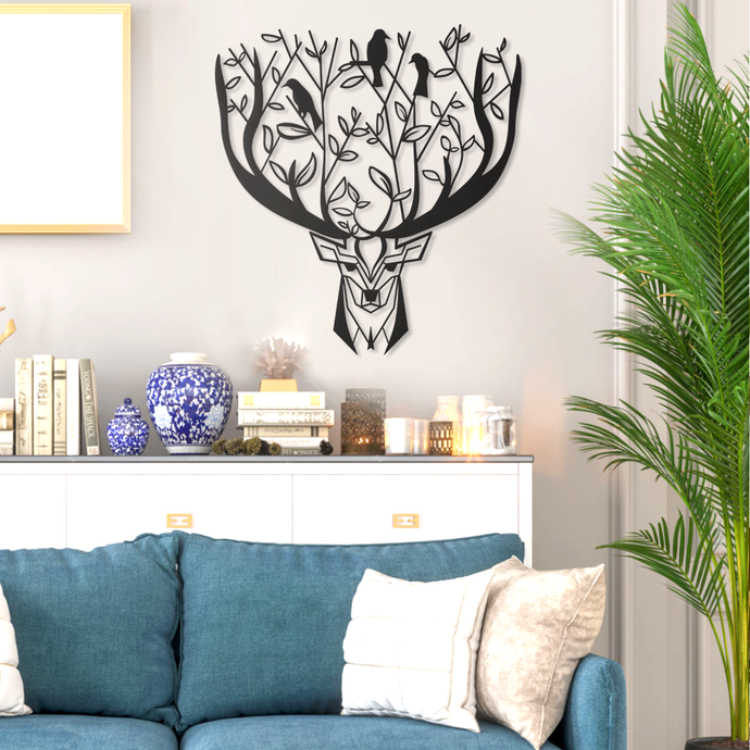 Birds & Deer Metal Wall Art Decor