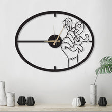 Load image into Gallery viewer, Catch The Time Metal Wall Clock