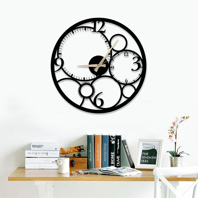 Circle & Time Metal Wall Clock