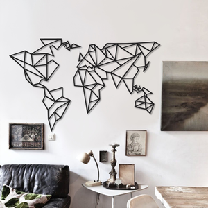 Cubic World Metal Wall Decor