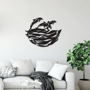 Dolphins Metal Wall Art & Decor