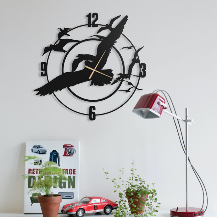 Doves Metal Wall Clock