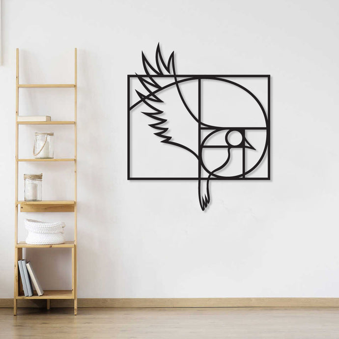 Golden Ratio Bird Metal Wall Art & Decor