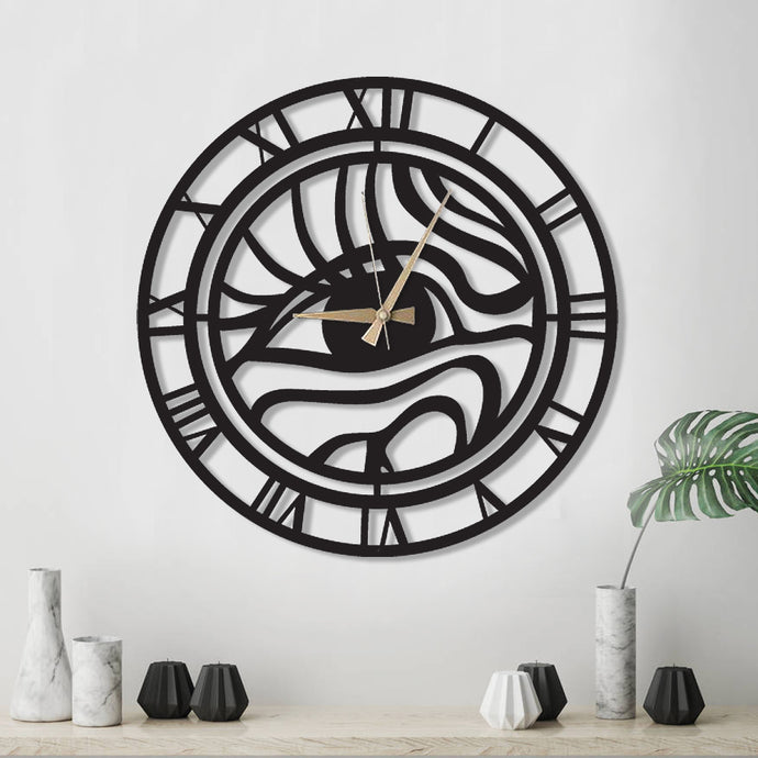 Look My Eyes Metal Wall Clock
