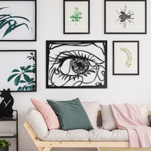 Load image into Gallery viewer, Mysterious Eyes Metal Wall Art
