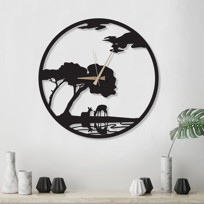 Nature Metal Wall Clock