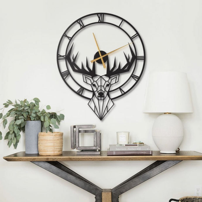 Nice Deer Metal Decorative Wall Clock