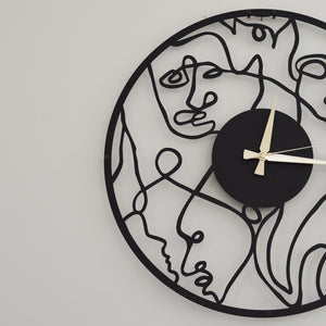 Picasso Metal Wall Clock