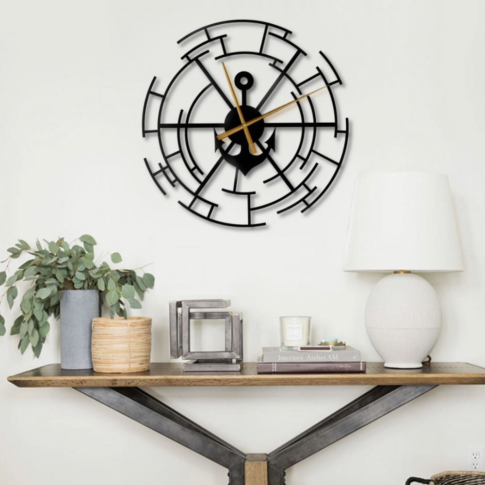 Sailor Clock Decorative Metal Wall Clock