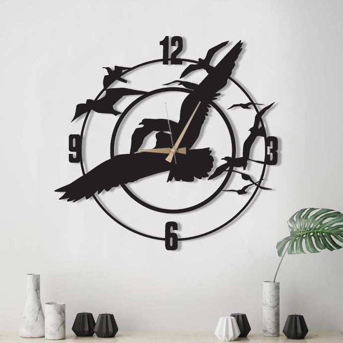 Time is Flying Decorative Metal Wall Clock