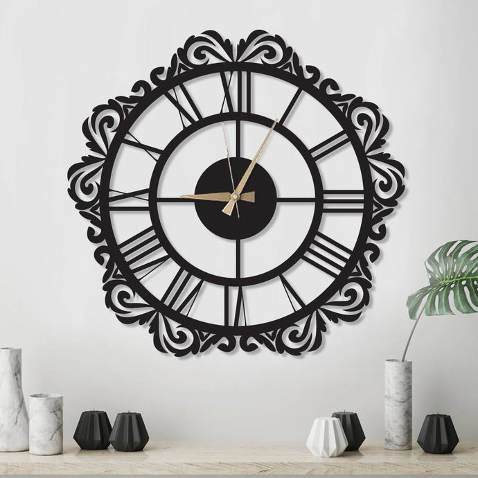 Vintage Decorative Metal Wall Clock