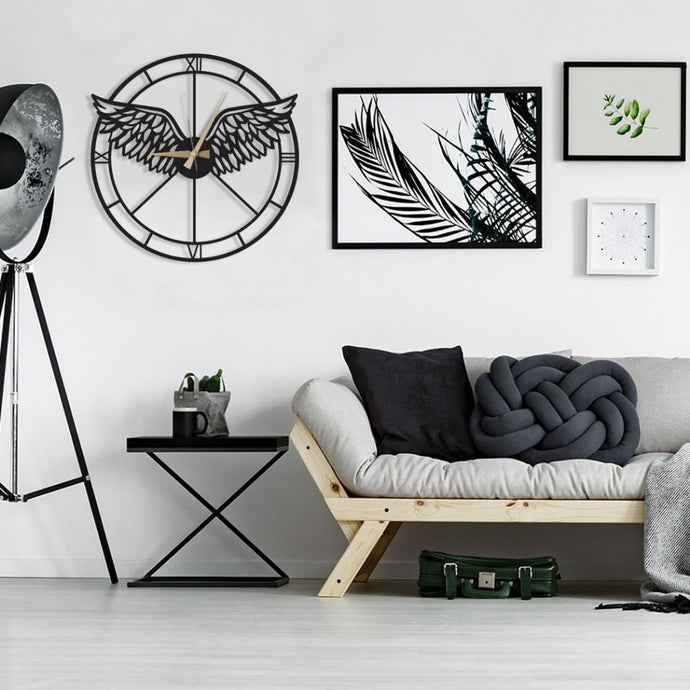 Wings Decorative Metal Wall Clock