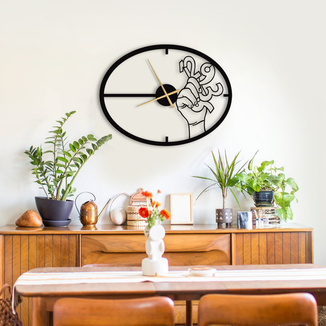 Catch The Time Metal Wall Clock