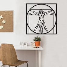 Load image into Gallery viewer, Vitruvian Metal Wall Decor