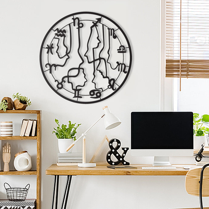 Zodiac Signs Decorative Metal Wall Art