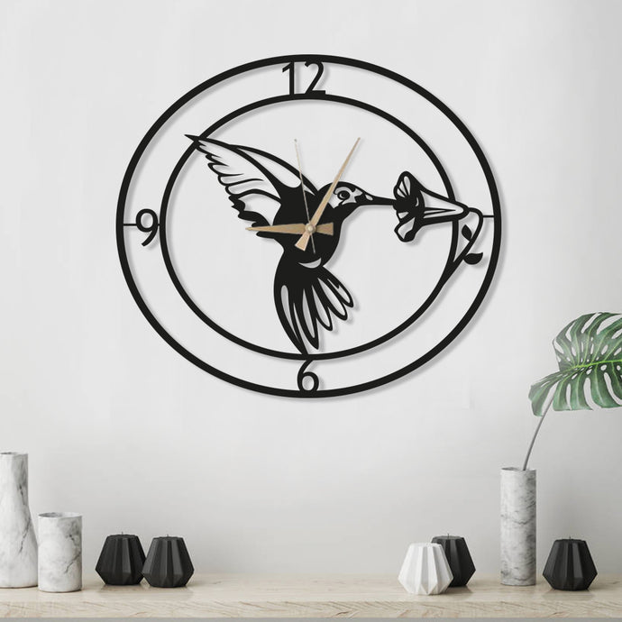 Hummingbird Clock with Numbers