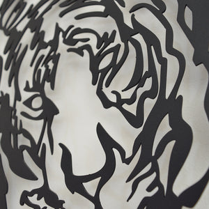 Power of Tiger Decorative Metal Wall Art